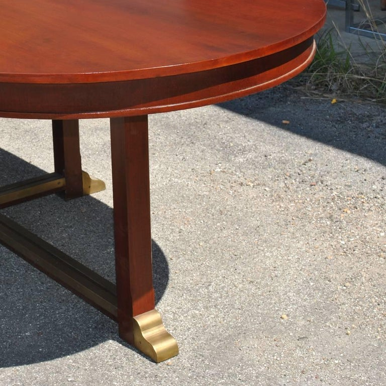 American Vintage Neoclassical Style Racetrack Dining Conference Table For Sale