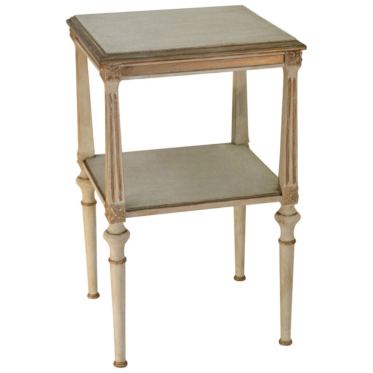Vintage Neoclassical Two-Shelf Nightstand For Sale
