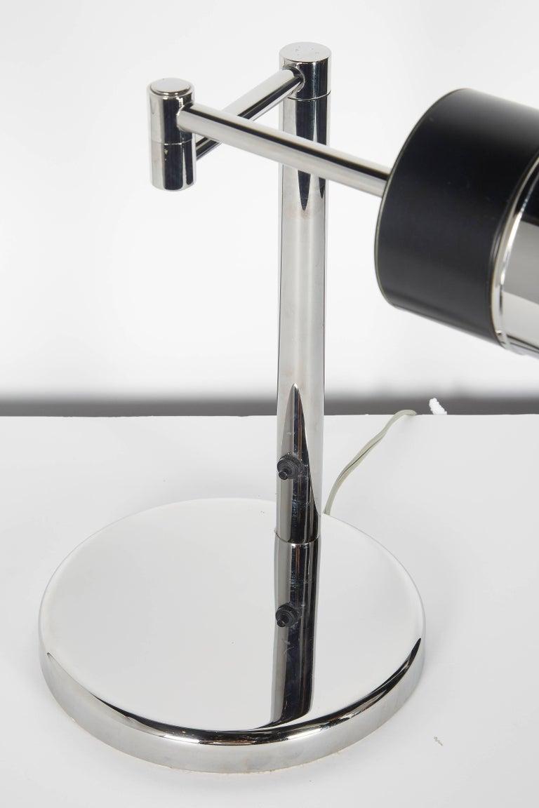 Vintage Nessen Studios Chrome Desk Lamp with Swing Arm, 1960s For Sale 3