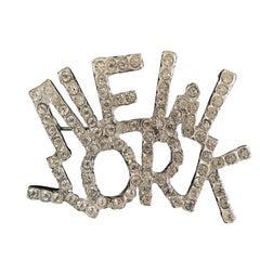 Vintage New York Crystal Brooche