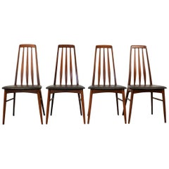 Vintage Niels Koefoed Model Eva Teak Dining Chairs, Set of 4