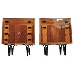 Vintage Nightstands 1970s, Set of 2