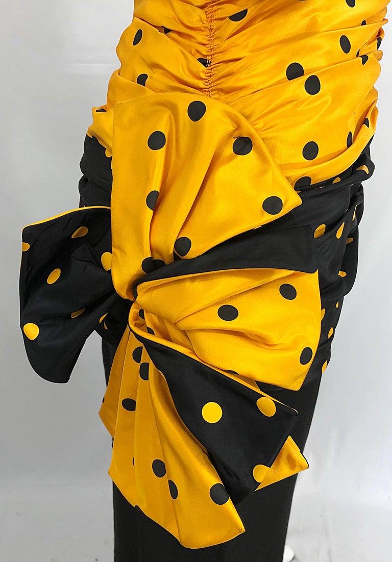 Vintage Nina Ricci Haute Couture 1980s Avant Garde Linen + Silk Strapless Gown For Sale 7
