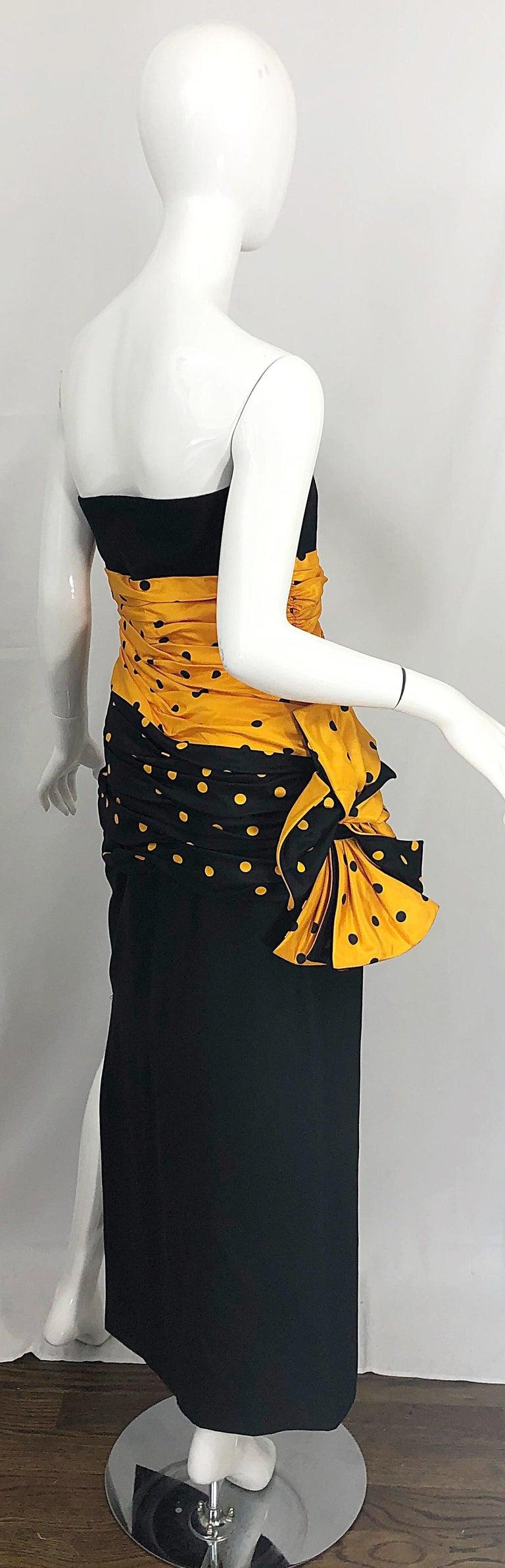Vintage Nina Ricci Haute Couture 1980s Avant Garde Linen + Silk Strapless Gown For Sale 9