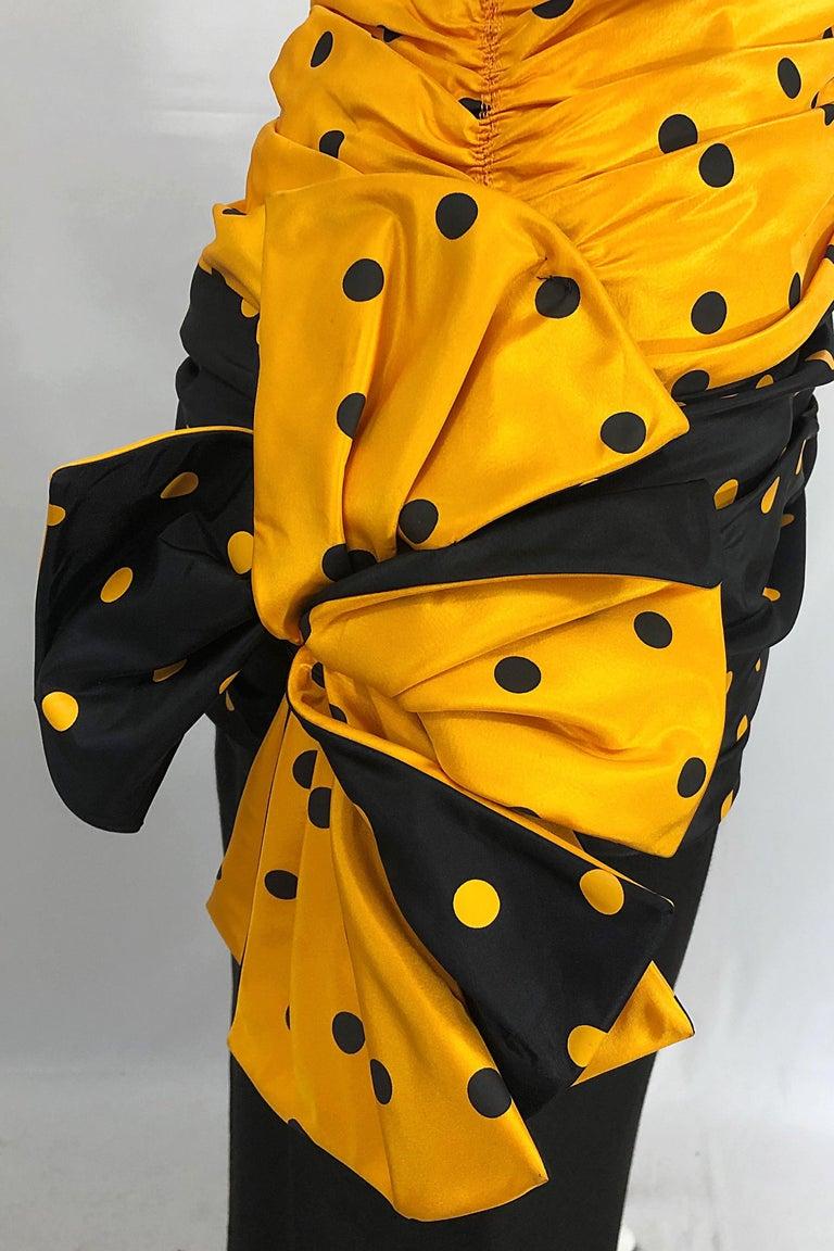 Women's Vintage Nina Ricci Haute Couture 1980s Avant Garde Linen + Silk Strapless Gown For Sale