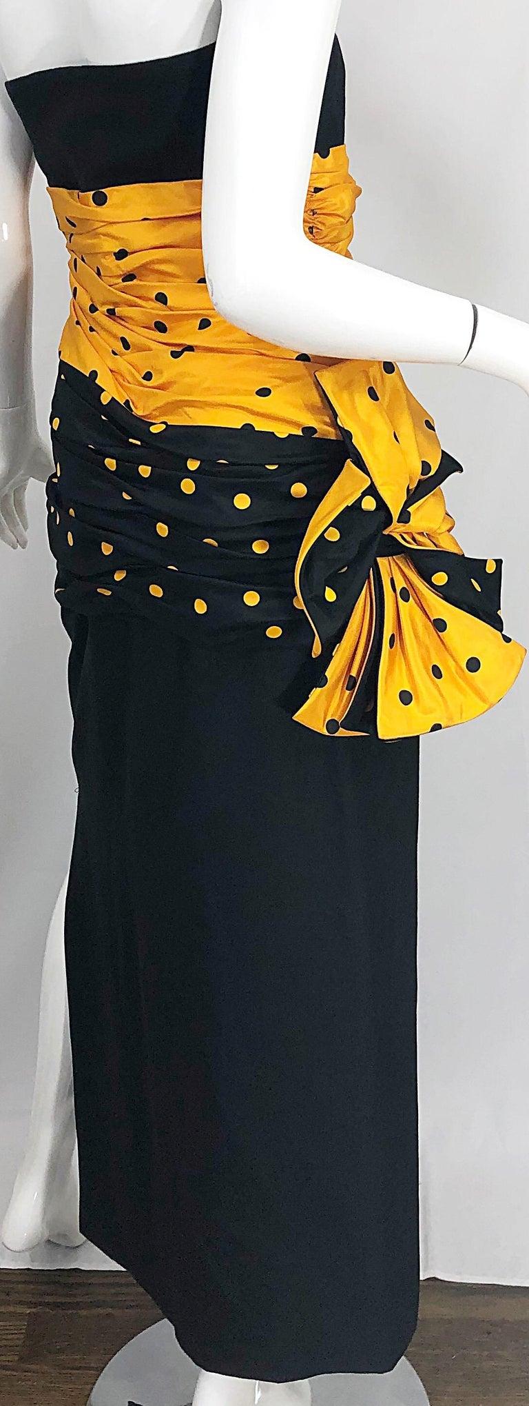 Vintage Nina Ricci Haute Couture 1980s Avant Garde Linen + Silk Strapless Gown For Sale 1
