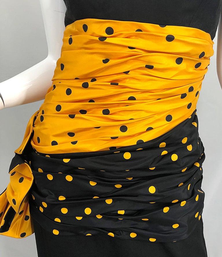 Vintage Nina Ricci Haute Couture 1980s Avant Garde Linen + Silk Strapless Gown For Sale 2