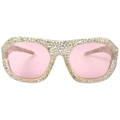 Vintage Nina Ricci Paris Bejewelled Oversized Sunglasses, 1970s
