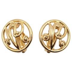 Vintage Nina Ricci Round NR Earrings