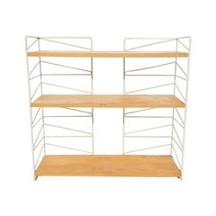 Vintage Nisse Strinning for String Pinewood Shelving System, Sweden, 1960s