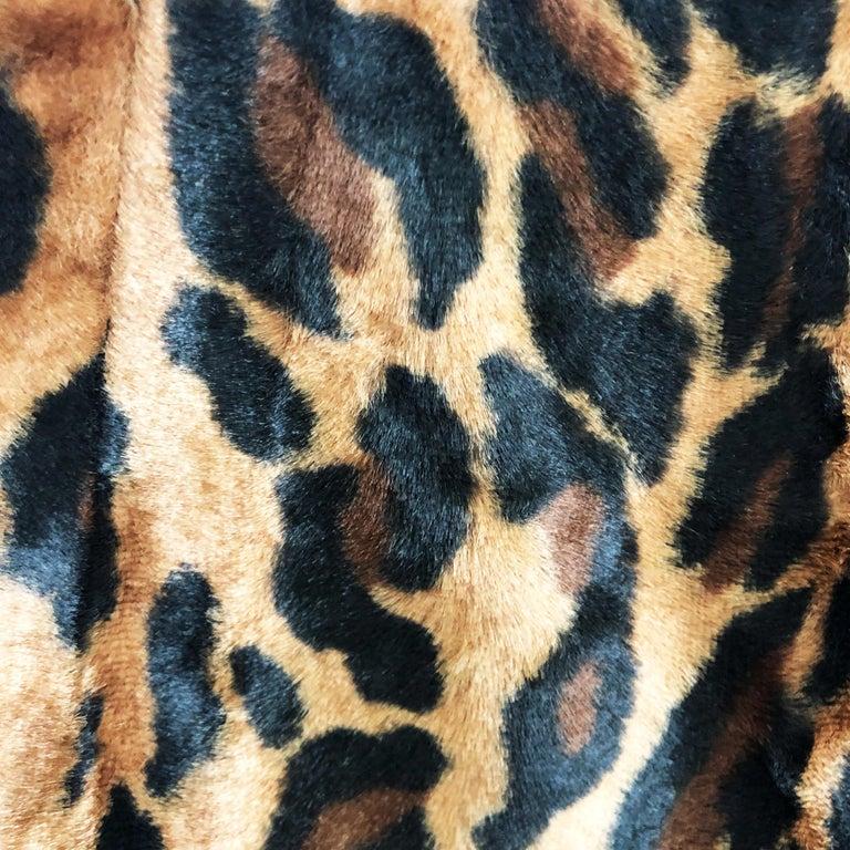 Vintage Norma Kamali Mini Skirt Faux Fur Tiger Print Sz XS  For Sale 1