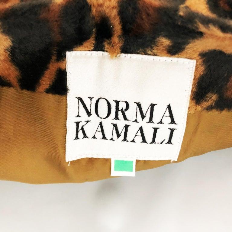 Vintage Norma Kamali Mini Skirt Faux Fur Tiger Print Sz XS  For Sale 2
