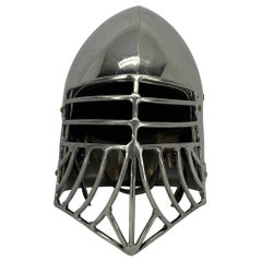 Vintage Norseman Style Polished Chrome Viking Helmet