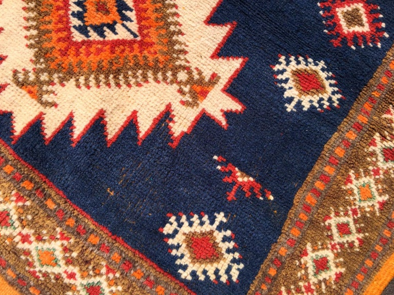 Vintage North African Berber Tribal Rug Ait Khozema For Sale 3