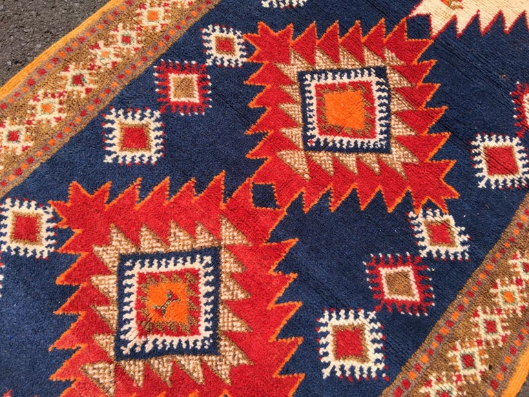 Vintage North African Berber Tribal Rug Ait Khozema For Sale 4