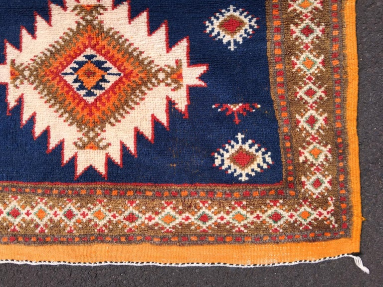 Moroccan Vintage North African Berber Tribal Rug Ait Khozema For Sale
