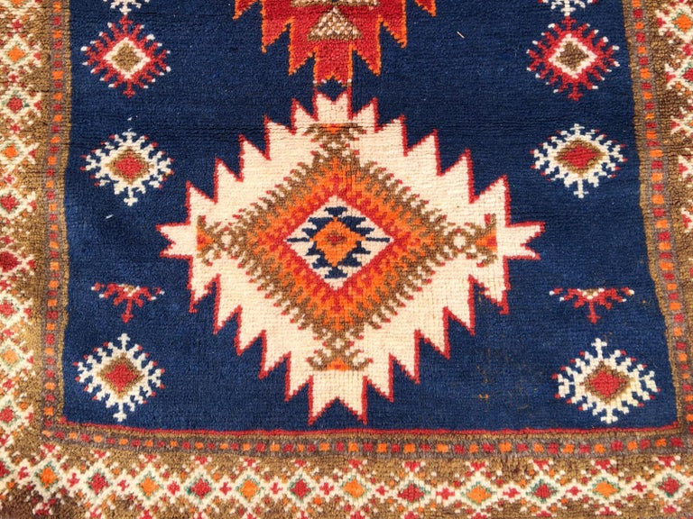 Hand-Knotted Vintage North African Berber Tribal Rug Ait Khozema For Sale