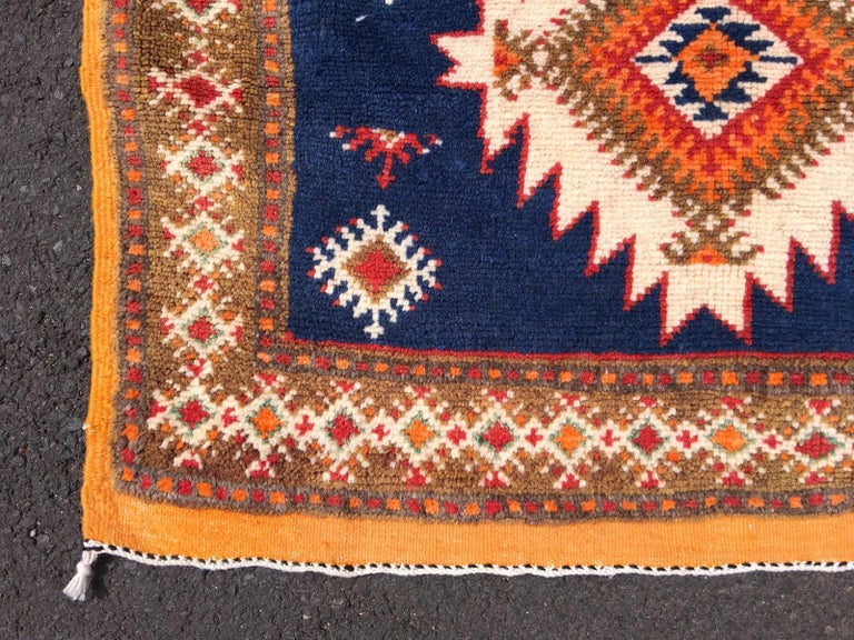 Late 20th Century Vintage North African Berber Tribal Rug Ait Khozema For Sale