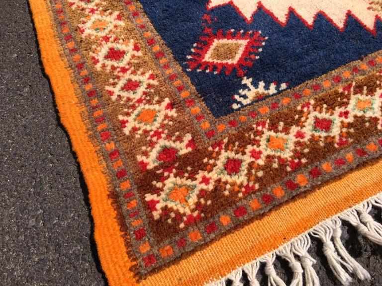 Vintage North African Berber Tribal Rug Ait Khozema For Sale 1