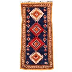 Vintage North African Berber Tribal Rug Ait Khozema