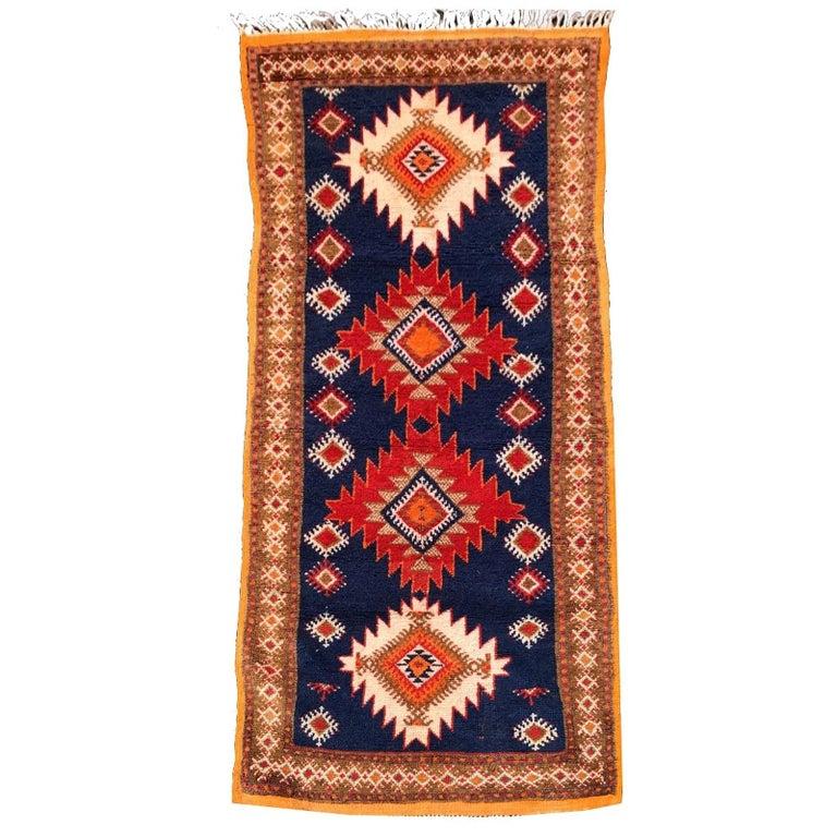 Vintage North African Berber Tribal Rug Ait Khozema For Sale
