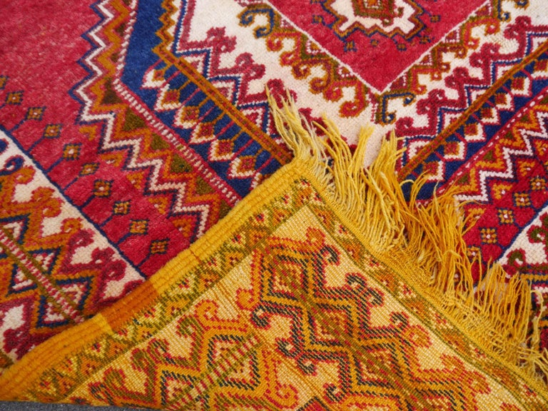 Vintage North African Berber Tribal Rug Ait Khozema from Morocco For Sale 3
