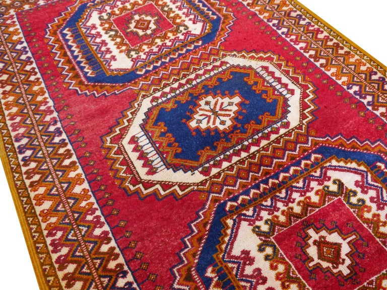 Vintage North African Berber Tribal Rug Ait Khozema from Morocco For Sale 4