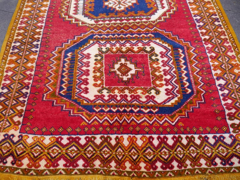 Moroccan Vintage North African Berber Tribal Rug Ait Khozema from Morocco For Sale
