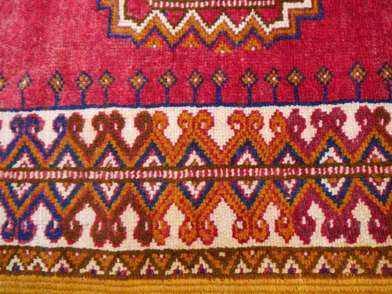 Late 20th Century Vintage North African Berber Tribal Rug Ait Khozema from Morocco For Sale