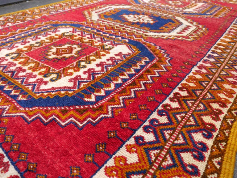 Vintage North African Berber Tribal Rug Ait Khozema from Morocco For Sale 1