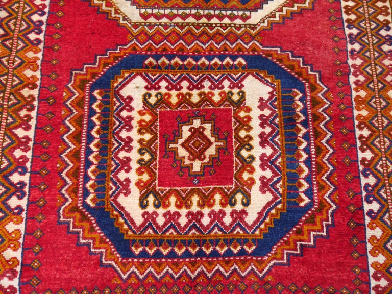 Vintage North African Berber Tribal Rug Ait Khozema from Morocco For Sale 2