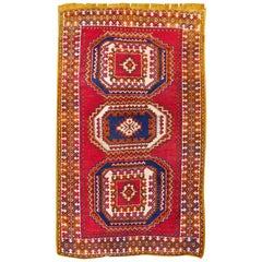 Vintage North African Berber Tribal Rug Ait Khozema from Morocco