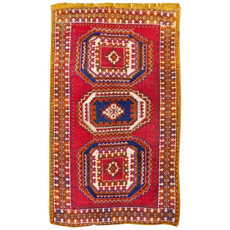 Vintage North African Berber Tribal Rug Ait Khozema from Morocco For Sale