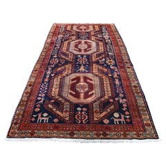 Vintage North East Persian Pure Wool Wide Runner Oriental Rug