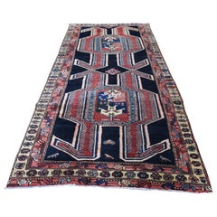 Vintage North West Persian Pure Wool Wide Runner Hand Knotted Oriental Rug