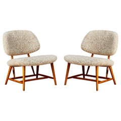 Vintage Northern Armchairs by Alf Svensson, 1953