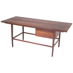 Vintage Norwegian Rosewood Cocktail Table with Sliding Dovetailed Drawer, 1960s