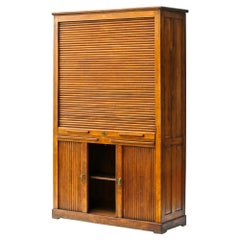 Vintage Notary Cabinet with Curtains