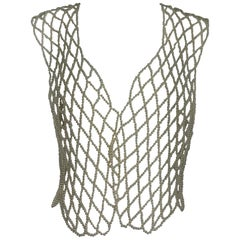 Vintage Novelty Pearl Vest 1980s