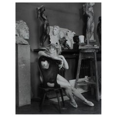 Vintage Nude Black and White Photograph by Josef Ehm