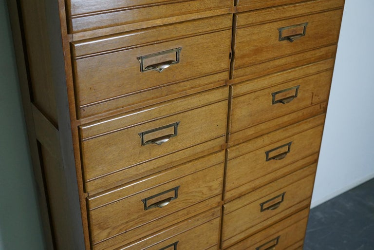 Mid-20th Century Vintage Oak Apothecary / Filing Cabinet, Luxembourg, 1930s For Sale