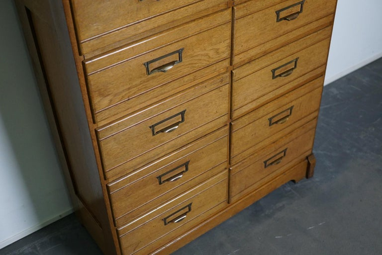 Vintage Oak Apothecary / Filing Cabinet, Luxembourg, 1930s For Sale 1