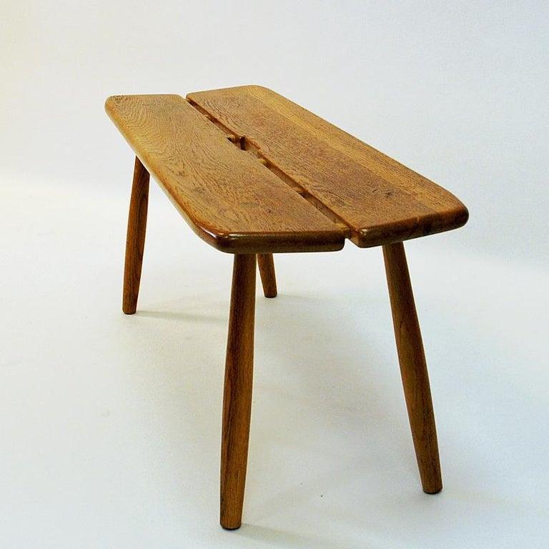 Scandinavian Modern Vintage Oak bench by Carl Gustaf Boulogner, 1950s, Sweden