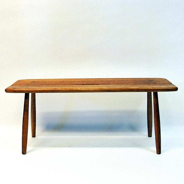 Swedish Vintage Oak bench by Carl Gustaf Boulogner, 1950s, Sweden