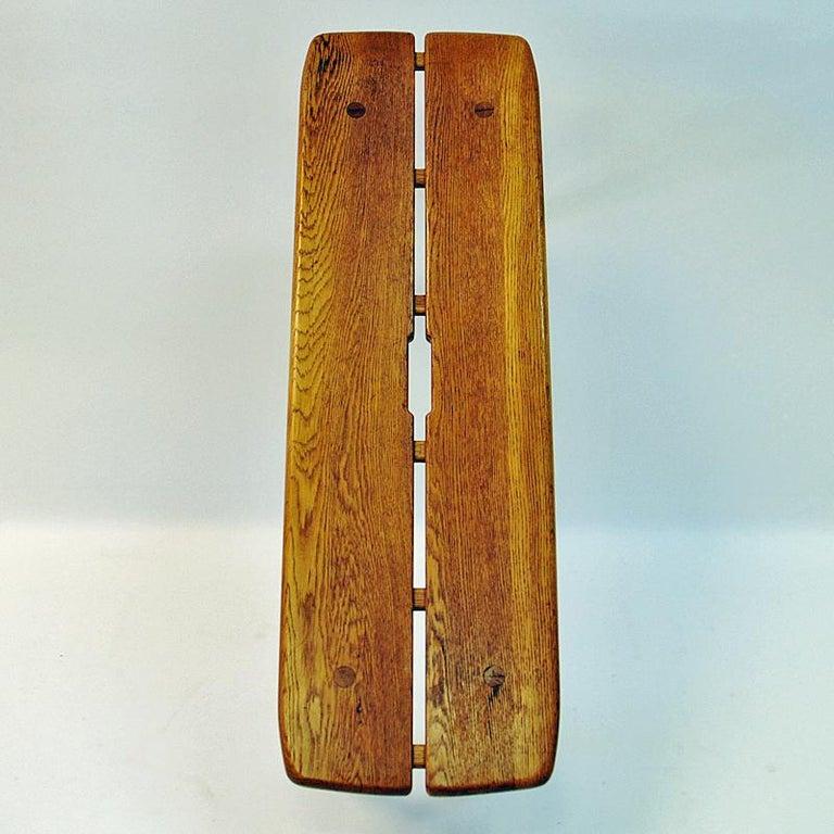 Mid-20th Century Vintage Oak bench by Carl Gustaf Boulogner, 1950s, Sweden