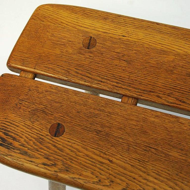 Vintage Oak bench by Carl Gustaf Boulogner, 1950s, Sweden 2