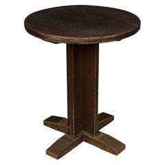 Vintage Oak Bistro Table from Denmark, 1950s