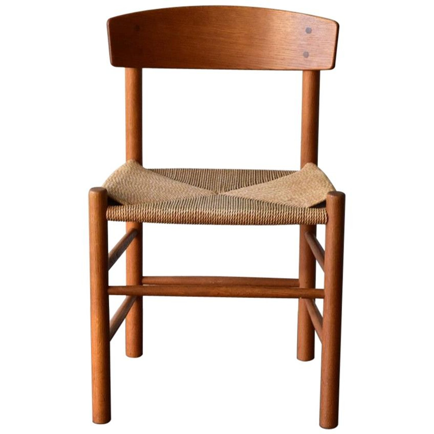 Vintage Wooden Chairs >> Vintage Oak Borge Mogensen Chairs Produced By J39 Fdb Mobler Denmark