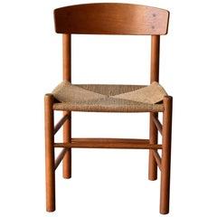 Vintage Oak Børge Mogensen Chairs Produced by J39 FDB Møbler, Denmark