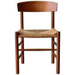 Vintage Oak Børge Mogensen Chairs Produced by J39 FDB Møbler, Denmark